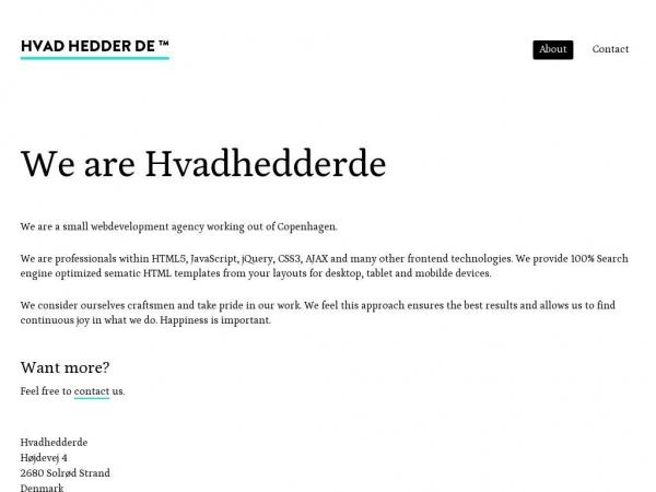 hvadhedderde.com