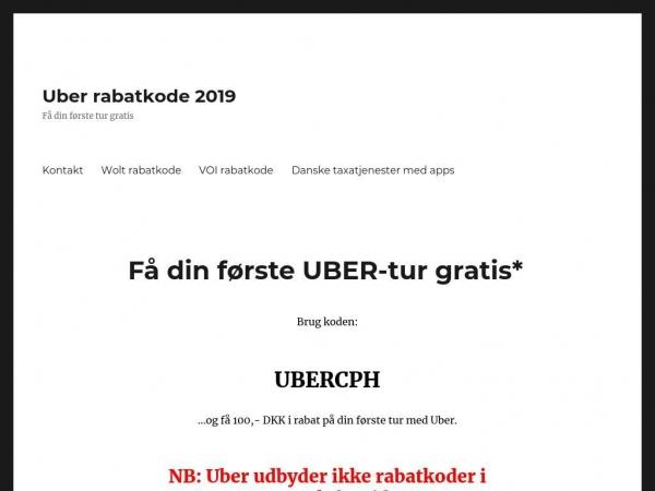 uber-rabatkode.dk
